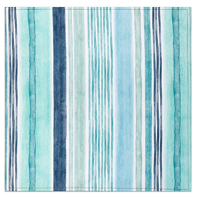 Alternate image 1 for Destination Summer Laguna Striped Placemat in Blue