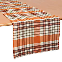 Bardwil Linens Berry Plaid 70 Inch Table Runner In Brown