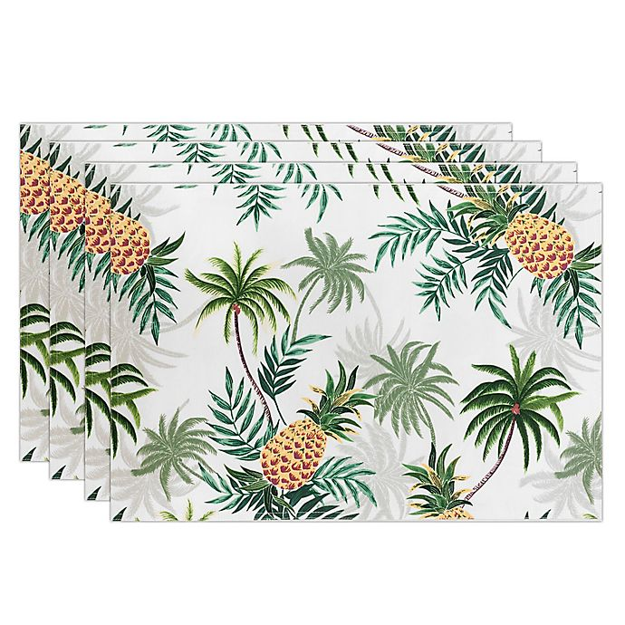 Alternate image 1 for Tommy Bahama® Paraguay Pineapple Placemats (Set of 4)