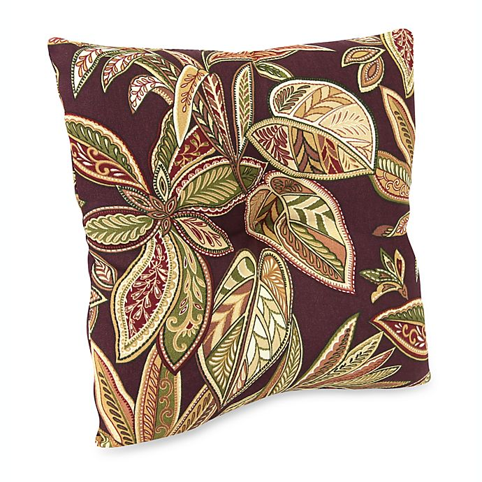 16 Inch Square Outdoor Toss Pillow In Crestwood Bed Bath