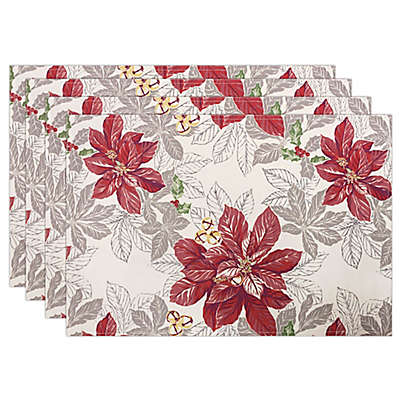 Tommy Bahama® Tropical Poinsettia Placemats in Ivy (Set of 4)