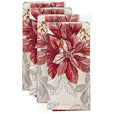 Tommy Bahama® Tropical Poinsettia Napkins in Ivy (Set of 4)