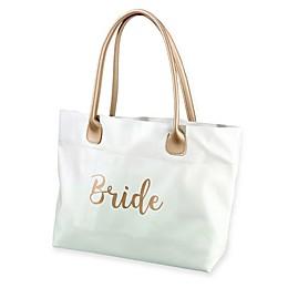 """Lillian Rose™ """"Bride"""" Tote in Gold"""