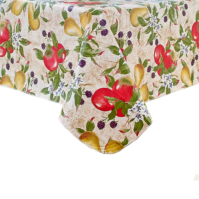 Alternate image 1 for Everyday Fruits 52-Inch Square Vinyl Tablecloth
