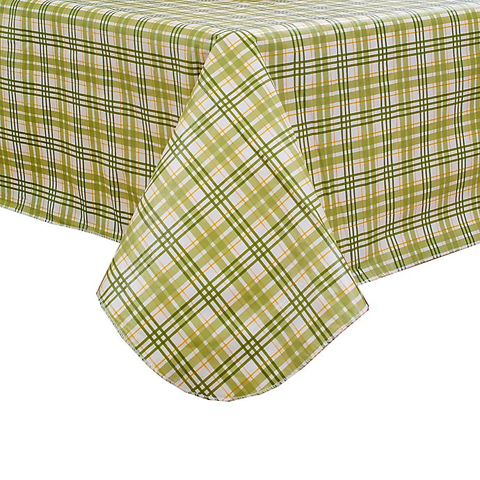Alternate image 1 for Homestead Plaid 52-Inch Square Tablecloth in Green