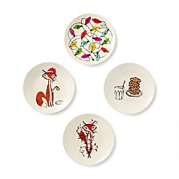 kate spade new york Festive Foxes Melamine Tidbit Plates (Set of 4)