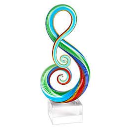 Badash Rainbow Murano Note Centerpiece on Base Figurine