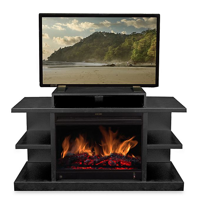 Prime Saxon Electric Fireplace Mantel Bed Bath Beyond Home Interior And Landscaping Synyenasavecom