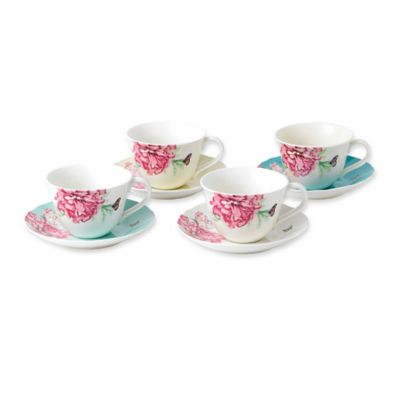 Miranda Kerr For Royal Albert Everyday Friendship Teacups And Saucers Set Of 4 Bed Bath Beyond