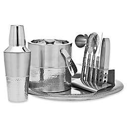 Godinger 9-Piece Hammered Barware Set