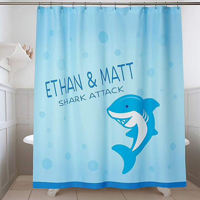 Alternate image 1 for Sea Creatures Personalized Shower Curtain