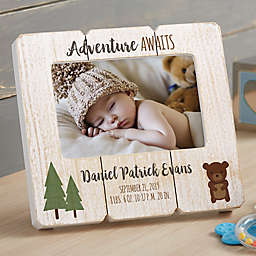 Woodland Adventure Bear Shiplap Picture Frame