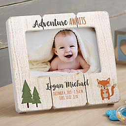 Woodland Adventure Fox Shiplap Picture Frame