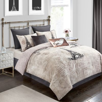 Paris Reversible Comforter Set Bed Bath Amp Beyond