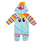Hasbro® Size 3-6M My Little Pony Hooded Coverall in Light Blue