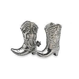 Arthur Court Designs Cowboy Boot Salt & Pepper Shakers