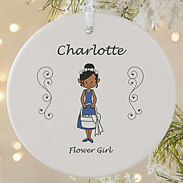 1-Sided Matte Wedding Party Characters Personalized Ornament- Large