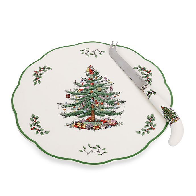 Spode Christmas Tree China Sale: Spode® Christmas Tree 9-Inch Cheese Plate With Knife