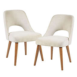 INK+IVY Nola Dining Side Chairs in Cream (Set of 2)