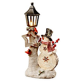 National Tree Company 12-Inch Snowman and Lamp Post