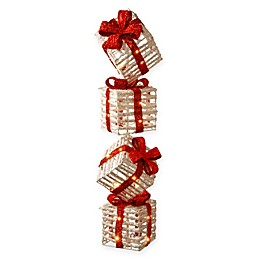 National Tree Company® Gift Box Tower Holiday Decor