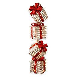 National Tree Company® Gift Box Tower Holiday Decor