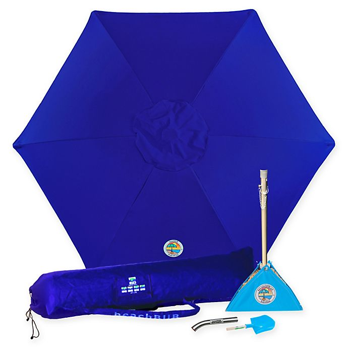 Alternate image 1 for beachBUB® 7-1/2-Foot All-In-One Beach Umbrella in Ocean Blue