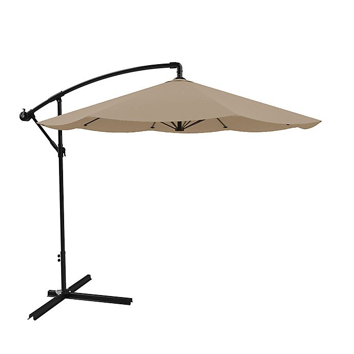 Alternate image 1 for Pure Garden Cantilever Offset 10-Foot Hanging Patio Umbrella