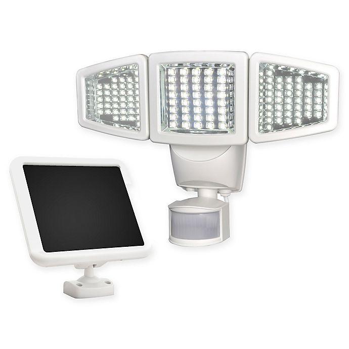 Alternate image 1 for 120 LED Triple Head Solar Motion Light  in White