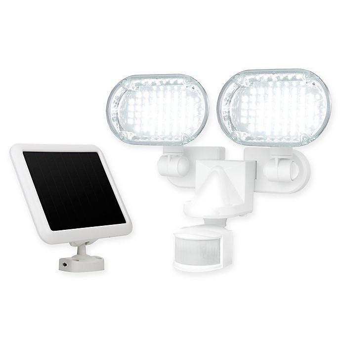 Alternate image 1 for 100 LED Solar Motion Light in White with Corner Mount