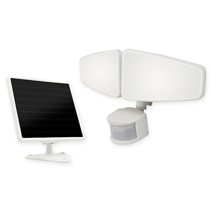 Alternate image 1 for 200 LED Twin Head Solar Motion Light in White