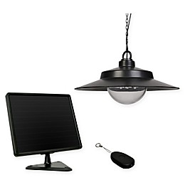 Solar Hanging Light in Black with Remote Control