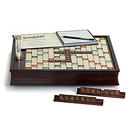 Scrabble Deluxe Wooden Edition Board Game