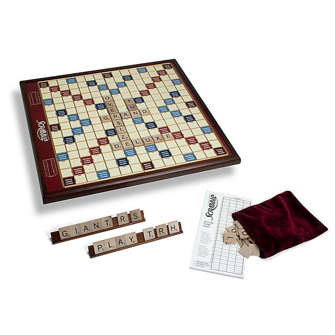 Alternate image 1 for Giant Scrabble Board Game Wood Edition