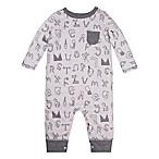 Lamaze® Newborn Animal Letters Romper in Grey