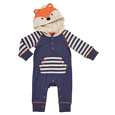 Baby Starters® Forest Friends Hooded Fox Coverall in Blue