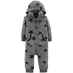 carter's® Fleece Hooded Star Jumpsuit in Grey