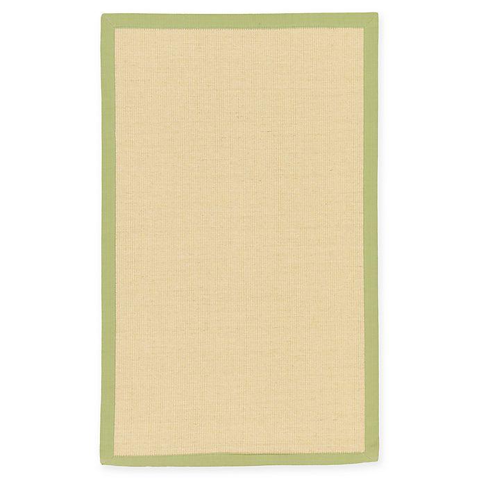 Alternate image 1 for Unique Loom Sandy Sisal 3' X 5' Powerloomed Area Rug in Cream/light Green