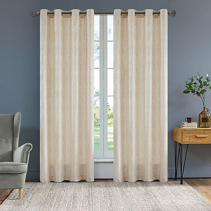 Alternate image 1 for Serena 54-Inch Grommet Window Curtain Panel in Cream