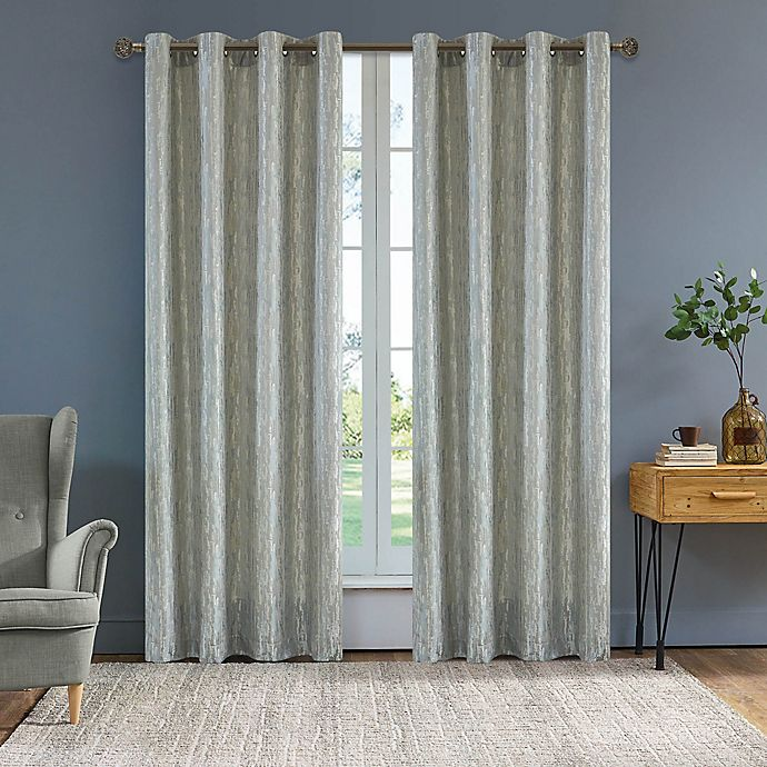 Alternate image 1 for Serena 54-Inch Grommet Window Curtain Panel in Light Silver