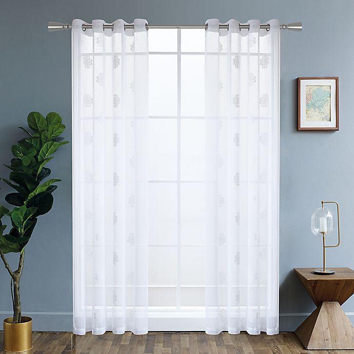 Alternate image 1 for Harper 84-Inch Grommet Window Curtain Panel in White