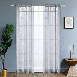 Harper 84-Inch Grommet Window Curtain Panel in Silver
