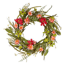 National Tree Company 22-Inch Artificial Wildflower Wreath
