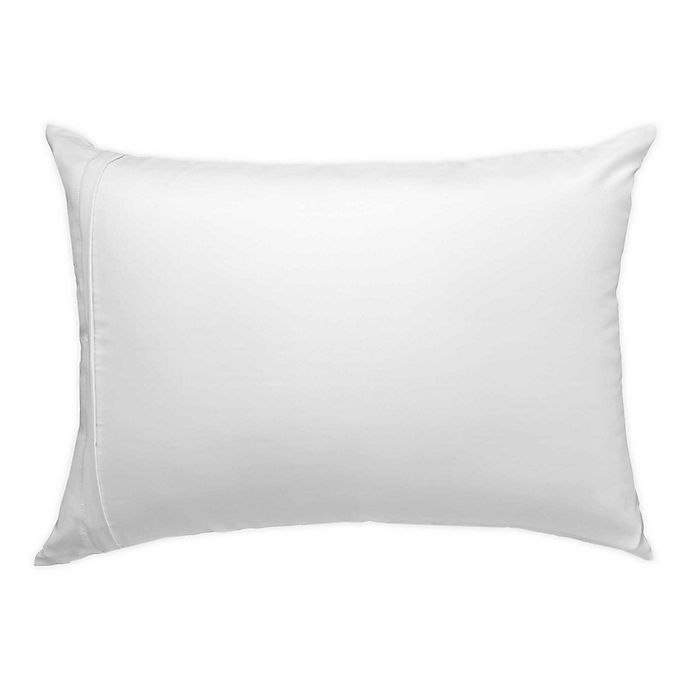 Alternate image 1 for Glow™ Satin with Aloe Standard/Queen Pillow Protector in White