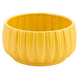 Zuo® Acacia Ceramic Decorative Bowl in Yellow