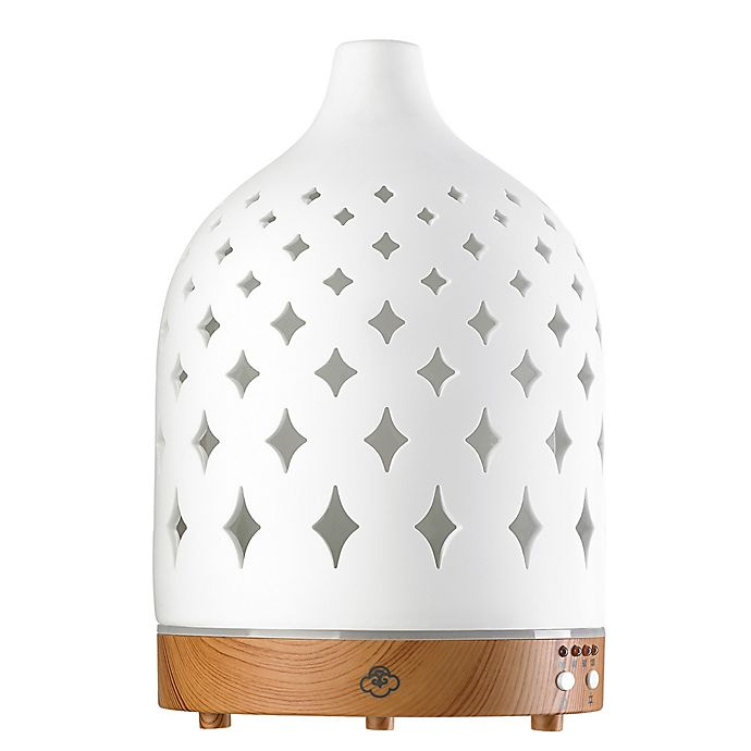 Alternate image 1 for Serene House® Supernova Ceramic Diffuser in White