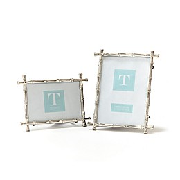 Two's Company® Bamboo Style Metal Photo Frames (Set of 2)