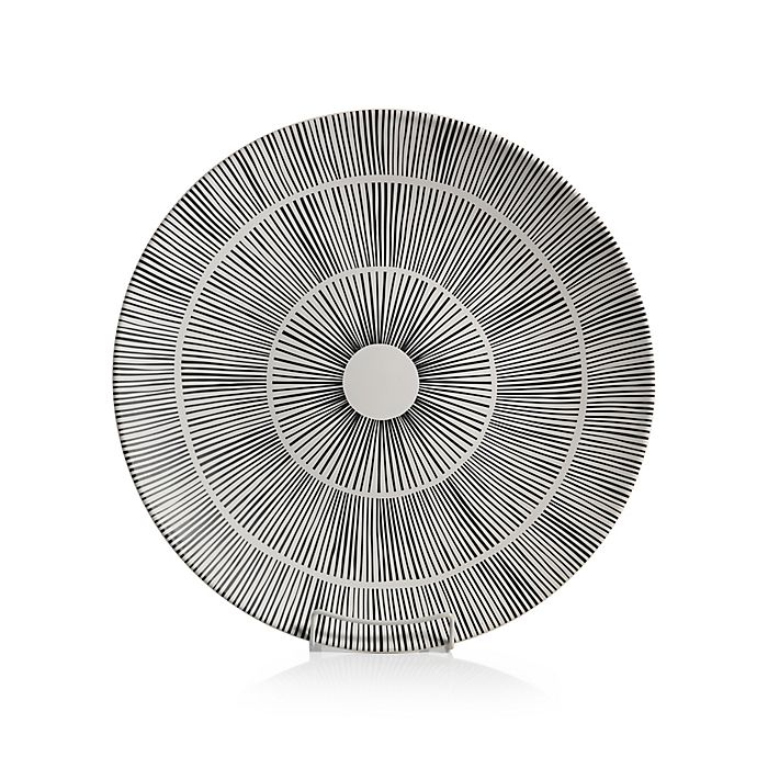 Alternate image 1 for Zodax Marquesa 15.75-Inch Ceramic Decorative Platter in White/Black