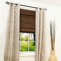 Farmhouse 64-inch Length Cordless Bamboo Roman Shade in Pecan Brown