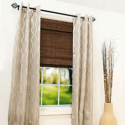 Radiance Brooklyn Cordless Bamboo Roman Shade in Cocoa